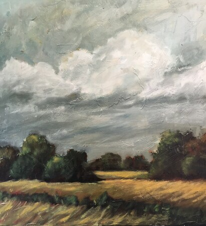 Storm Approach. 20x20 oil. Sold