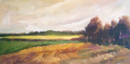 """Farmland""  oil 8x12 (sold)"