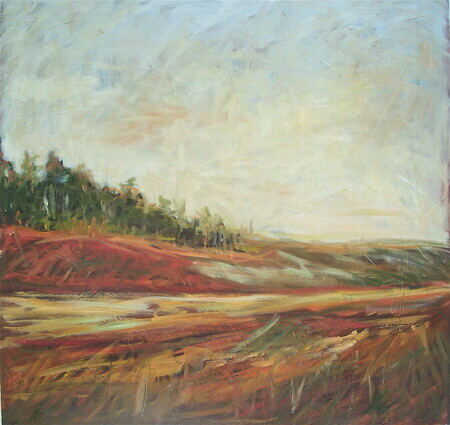 """Red Dirt with Path"" oil 30x30. Sold"